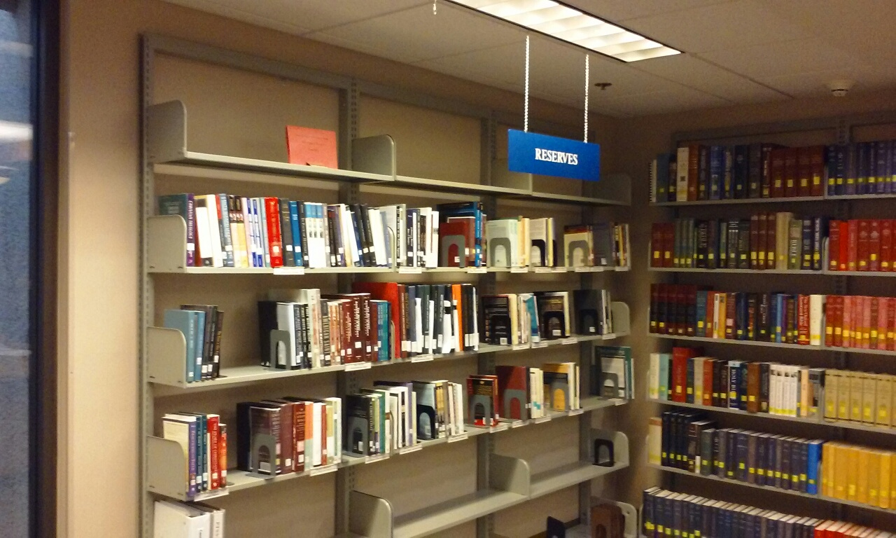 Reserve Shelf in Library