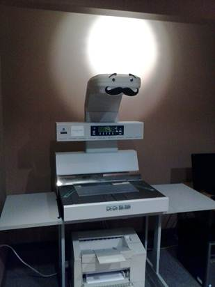 book scanner with mustache