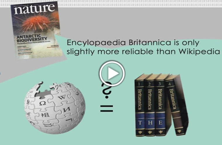 Encylopaedia Britannica is only slightly more reliable than Wikipedia