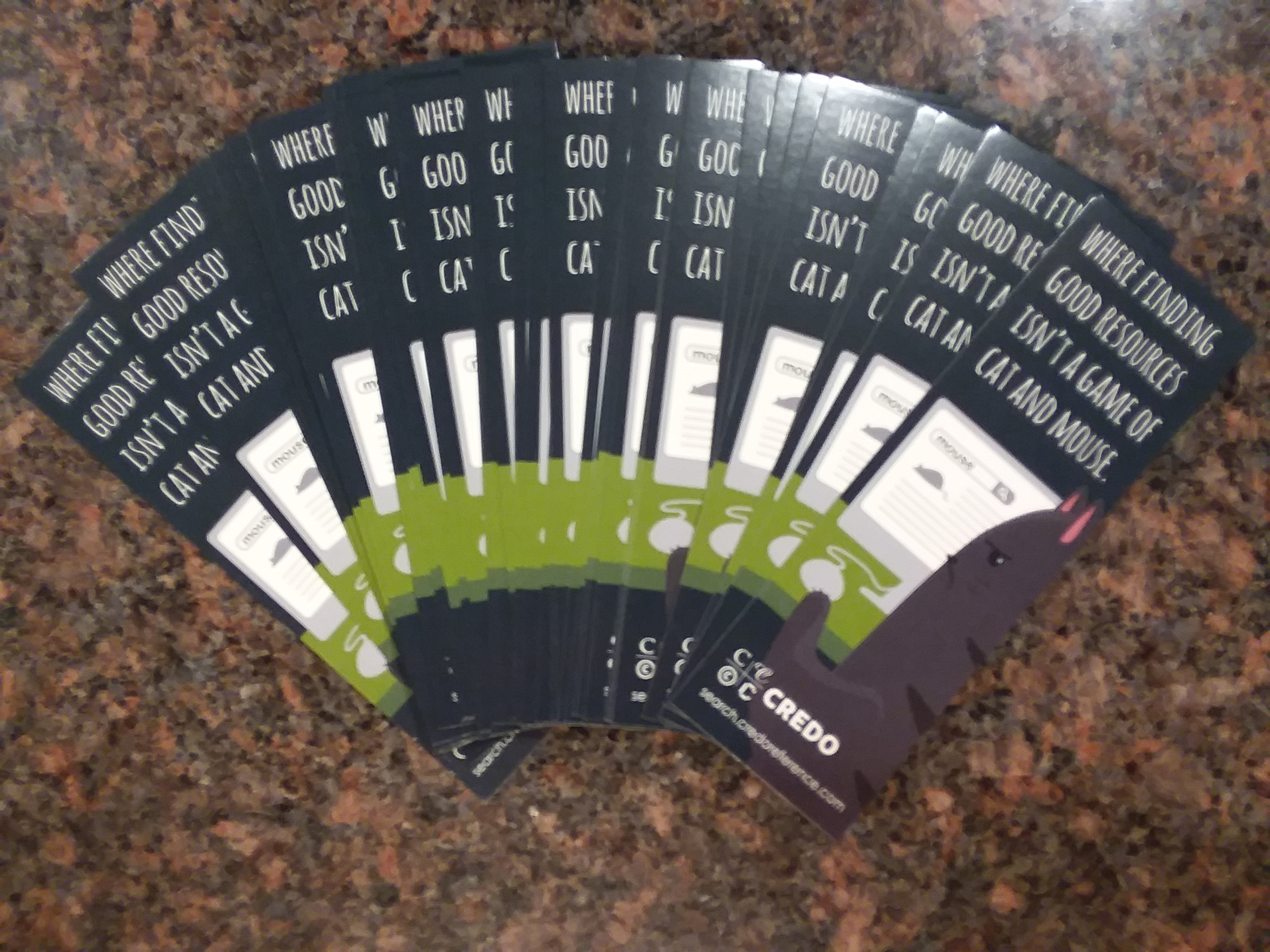 PTSMoodle: Free CREDO bookmarks in the library!