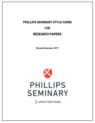 Phillips Theological Seminary Style Guide - Turabian CMS